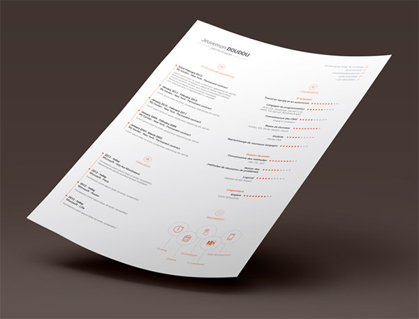 20 Free Editable CV/Resume Templates for PS  AI - free resume template design