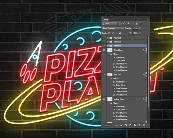 How To Create an Animated Neon Sign Effect - neon lettering