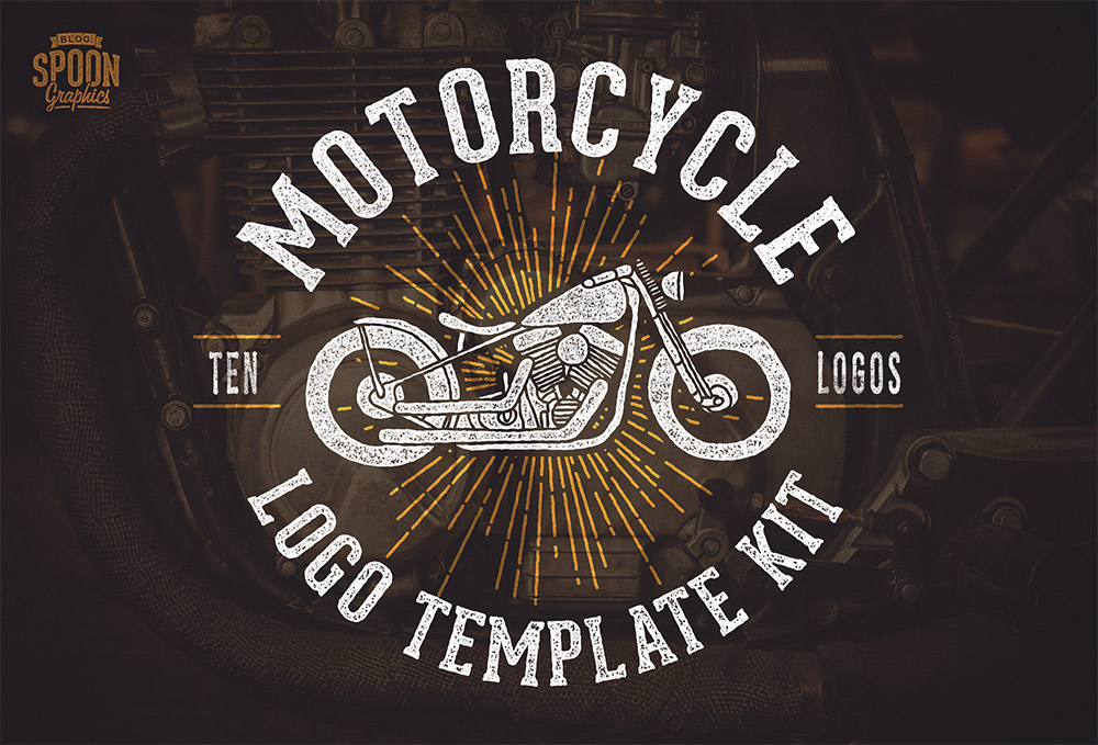 Motorcycle Racing Logo Design Free Motorcycle Vector Graphics Logo Template Kit