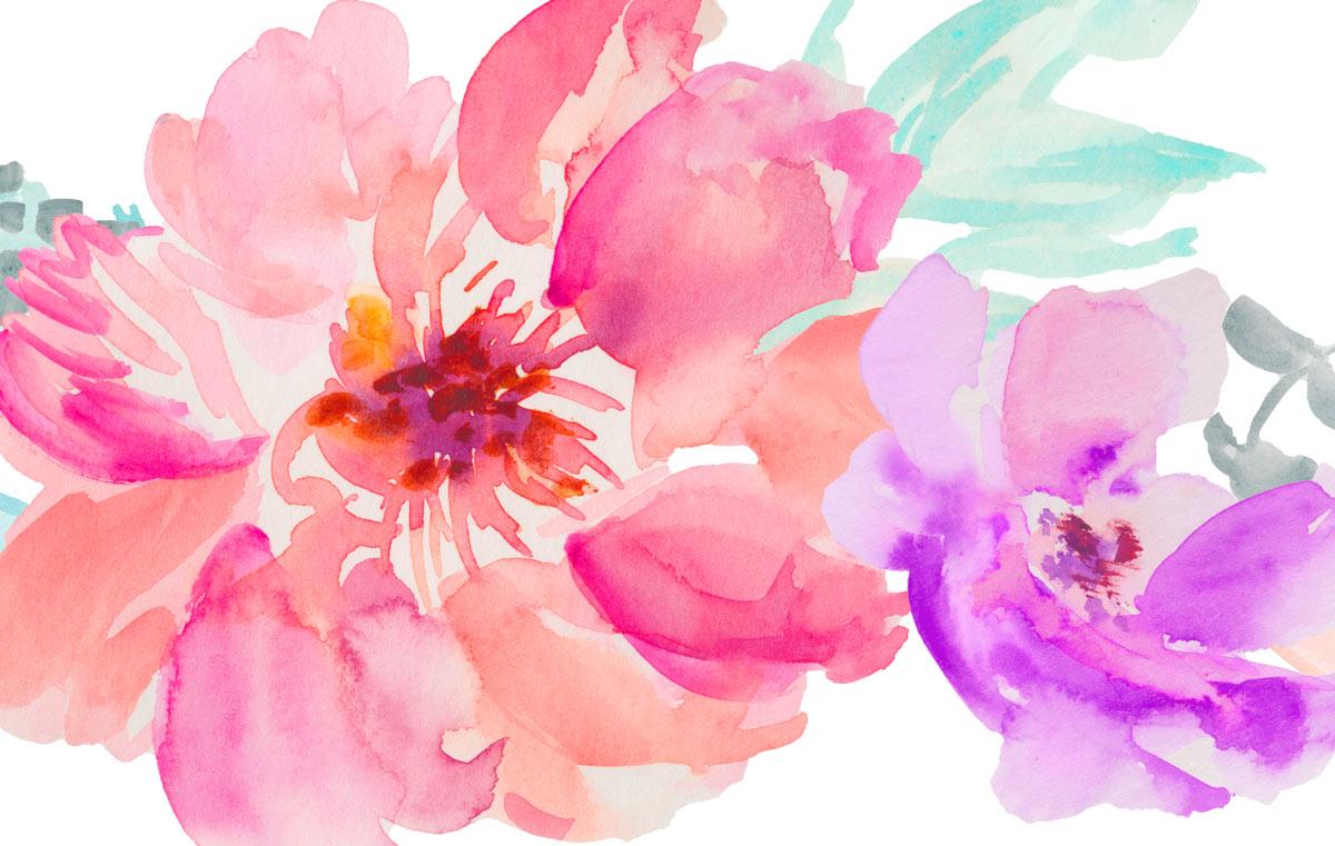 Fall Deer Wallpaper 48 Hand Painted Watercolor Flowers For Premium Members