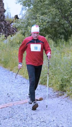 Peter ako aktívny nordic walker (zdroj: Slovak Nordic Walking Association)
