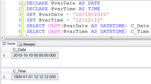 SQL SERVER - DATE and TIME in SQL Server 2008 - SQL Authority with - sql convert