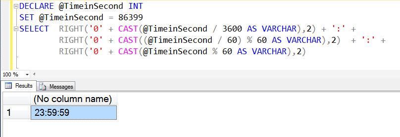SQL SERVER - Convert Seconds to Hour  Minute  Seconds Format - SQL