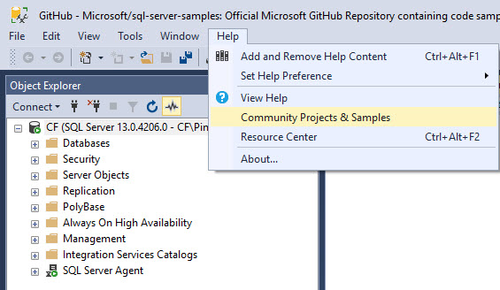 SQL SERVER - How to Get Updated Link for Code and Database Samples
