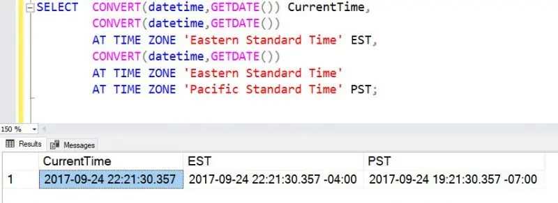 SQL SERVER - Simple Explanation of AT TIME ZONE Feature - SQL