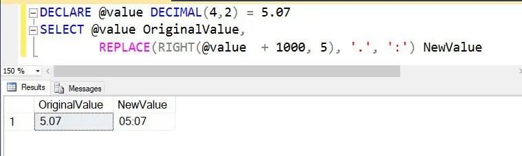 SQL SERVER - Convert Decimal to Time Format in String - SQL - sql convert