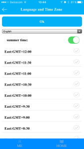 Language and Time Zone for the Clock feature