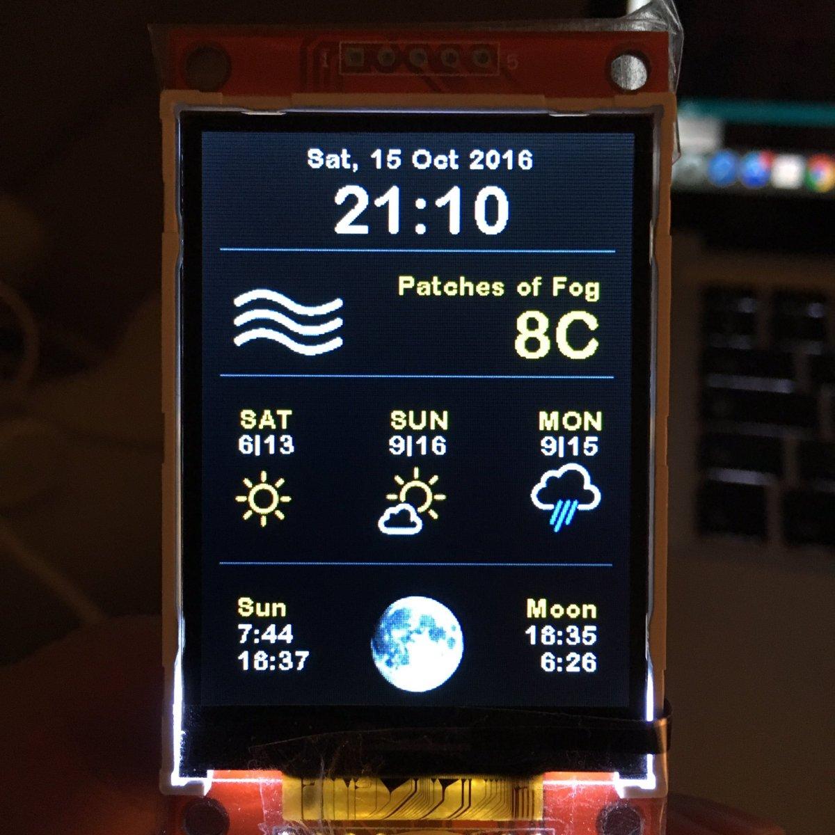 ESP8266 Weather Station Color code published