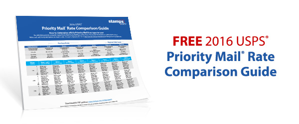 Free 2016 USPS Priority Mail Rate Comparison Guide - Stamps Blog