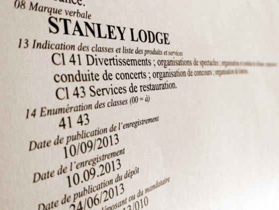 Stanley Lodge, marque déposée