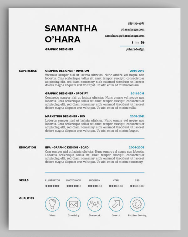 How to Design Unique Resumes with Stock Vectors - Storyblocks Blog