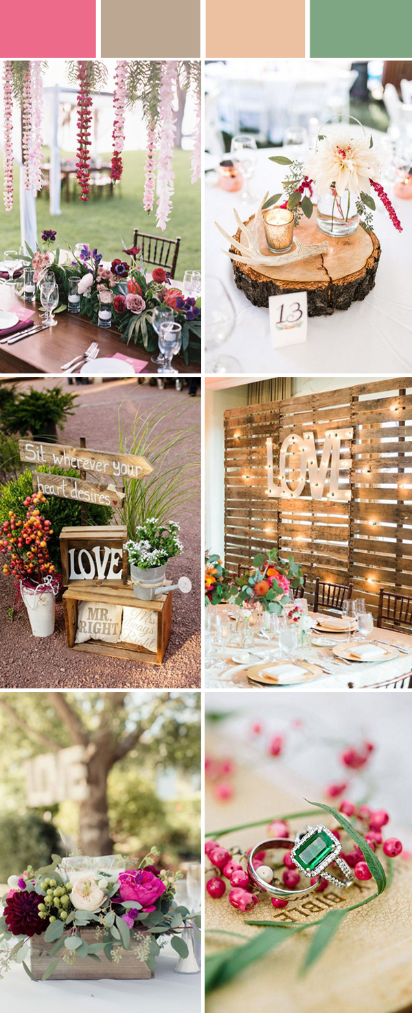 Top 10 Elegant And Chic Rustic Wedding Color Ideas Stylish Wedd Blog