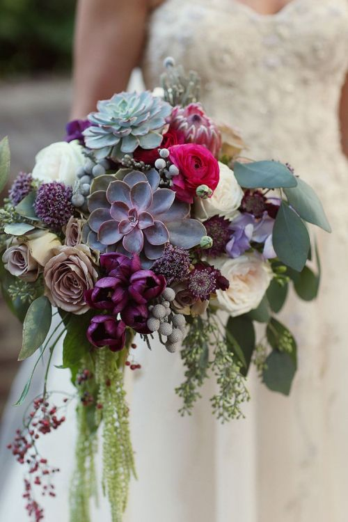 Nice Whimsical Purple Succulent Pink Wedding Bouquets Succulent Wedding Bouquets Ideas Fall Wedding Bouquets Diy October Wedding Bouquets