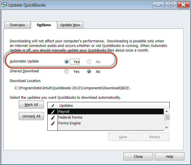QuickBooks Automatic Updates  Critical Fixes-What\u0027s Your Policy - Quickbooks Unrecoverable Error
