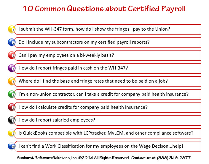 Ask Me Anything \u2013 10 Common Questions about Certified Payroll