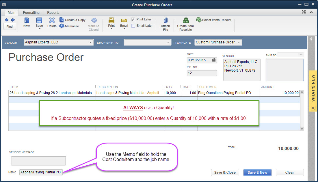 Tips for Using QuickBooks Purchase Orders QuickBooks for