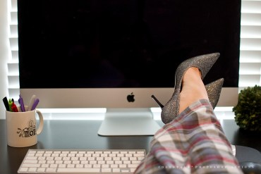 Freelance productive day classy heels