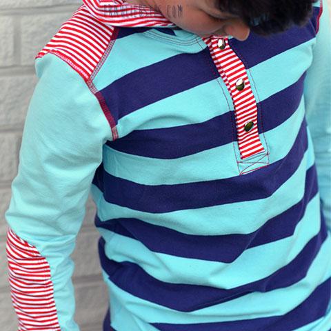 Shirt mit Gini Blockstreifen und Gitte Streifenjersey