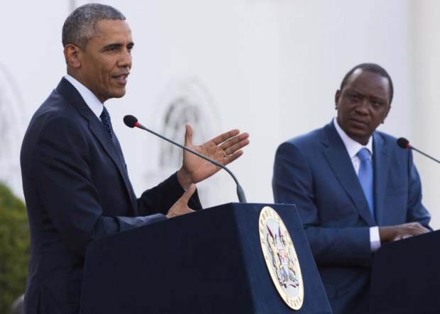 Obama Calls for Gay Equality in Africa during a joint press briefing in Kenya