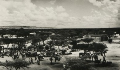 Hargeisa, British Somaliland protectorate. The women's market. - The National Archives UK