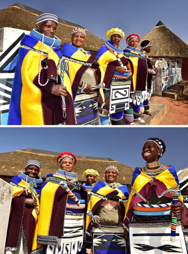 Elders & Women of Ndebele Village, Mpumalanga, South Africa. Flickr / South African Tourism (1) & (2)