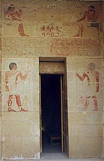 Entrance to the mastaba of Niankhkhnum and Khnumhotep