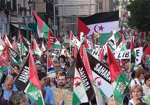 Pro-Western Sahara demonstration in Madrid