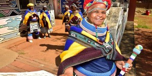 Pictures of the highly colourful and eye-catching culture of the Ndebele tribe