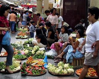 Busy Market in the Philippines