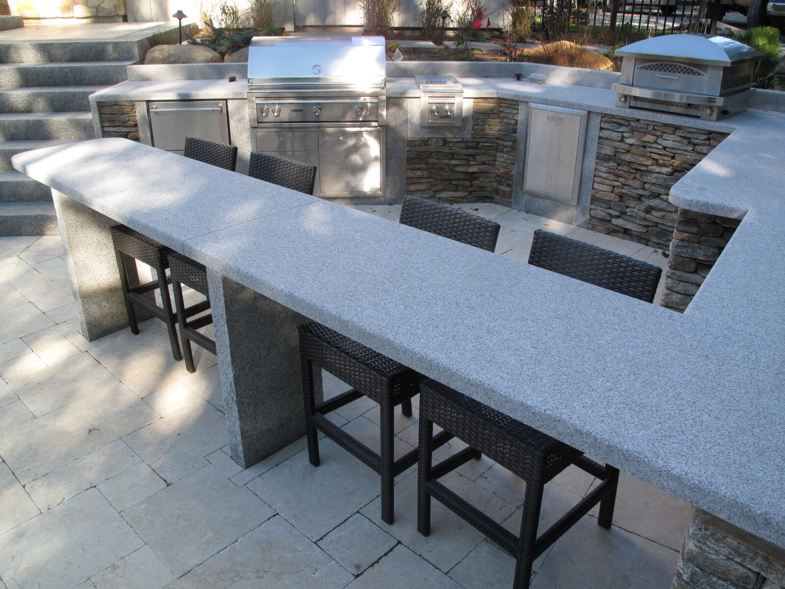 Blue Stone Countertop How To Create The Ultimate Outdoor Kitchen With Natural Stone