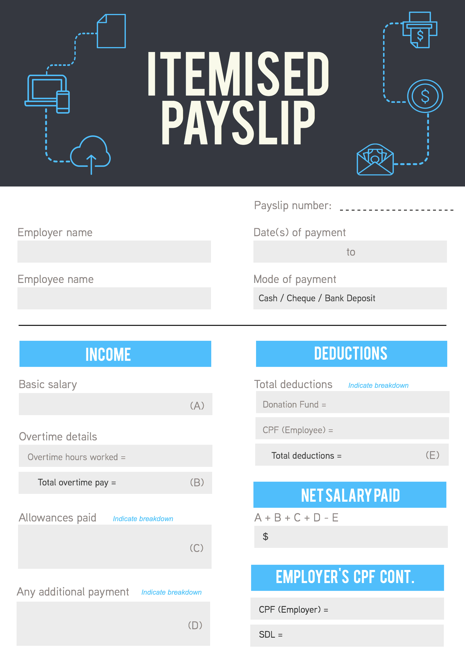basic payslip template excel download