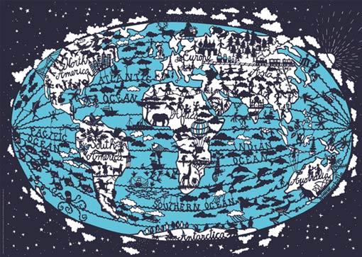 World-map-cutout