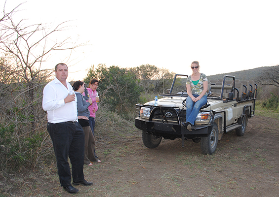 On a Thula Thula Safari jeep.