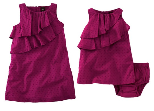 Swiss Dot Ruffle Dress Tea Collection