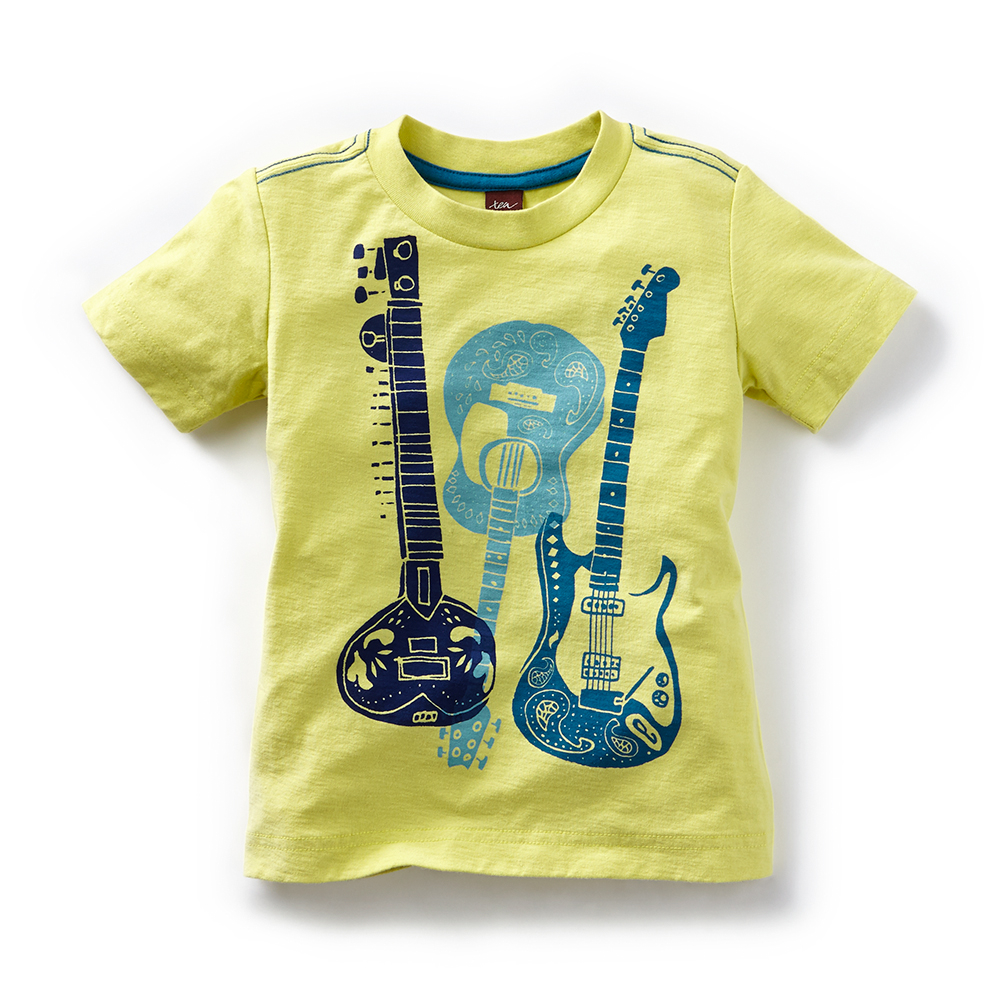 Sitar Guitar Graphic Tee