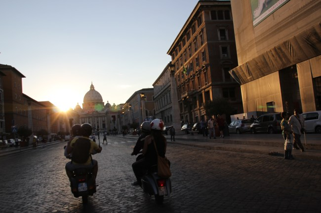 Designers scooting in Rome