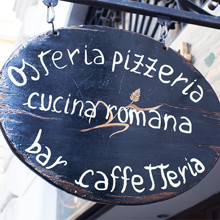 Restaurant Sign in Rome