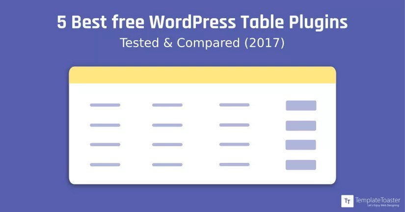 5 Best free WordPress Table Plugins Tested  Compared(2019)