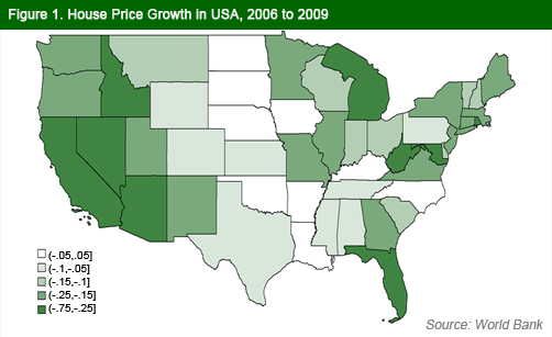 USA Map House Prices