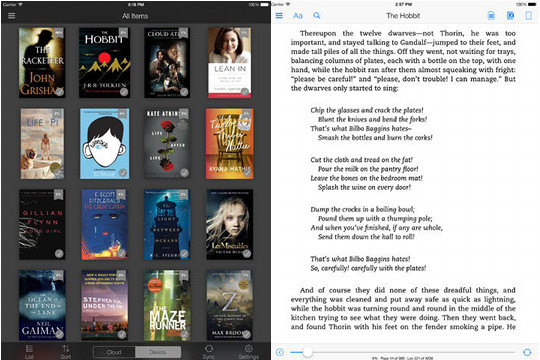 40 Update for Kindle iOS App Adds Collections and New Look The