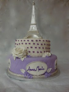 Eiffel Tower Sweet 16 Birthday Cake