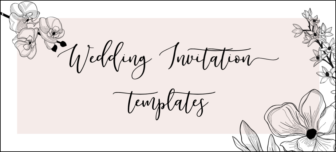 Gorgeous Wedding Invitation Templates - The Hungry JPEG
