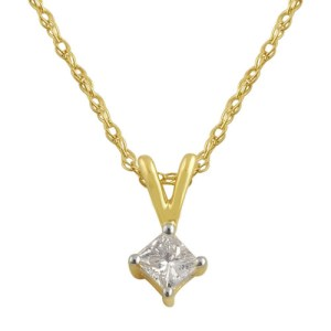 ILIANA Diamond 18K Y Gold Pendant With Chain
