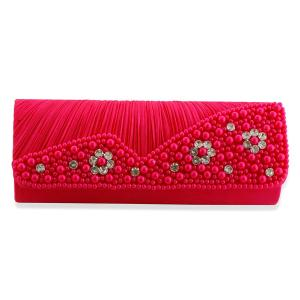 J Francis, Plastic Pearl Satin-Pink Colour Clutch Bag, just £9.99.