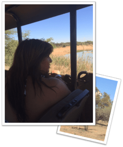 Vicki Browne on game drive