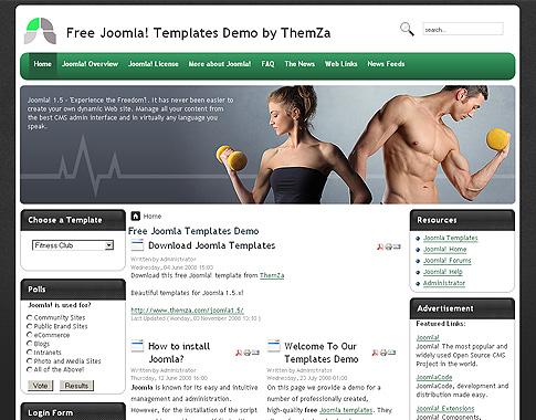 Free Templates Blog » Joomla 15x » Upcoming Fitness Mania site