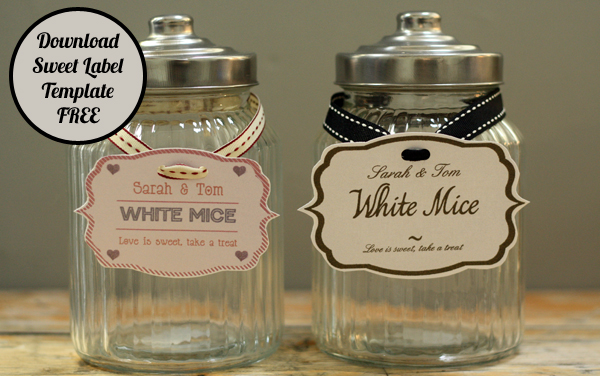 Sweet Jar Lables Wedding Candy Buffet Labels Free Download