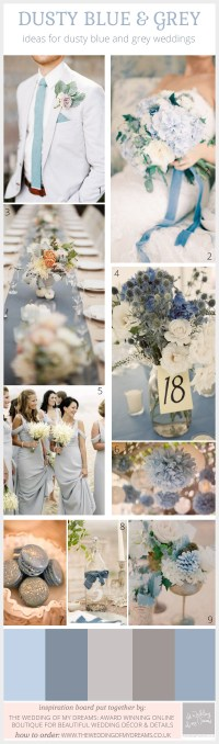 dusty blue and grey wedding ideas