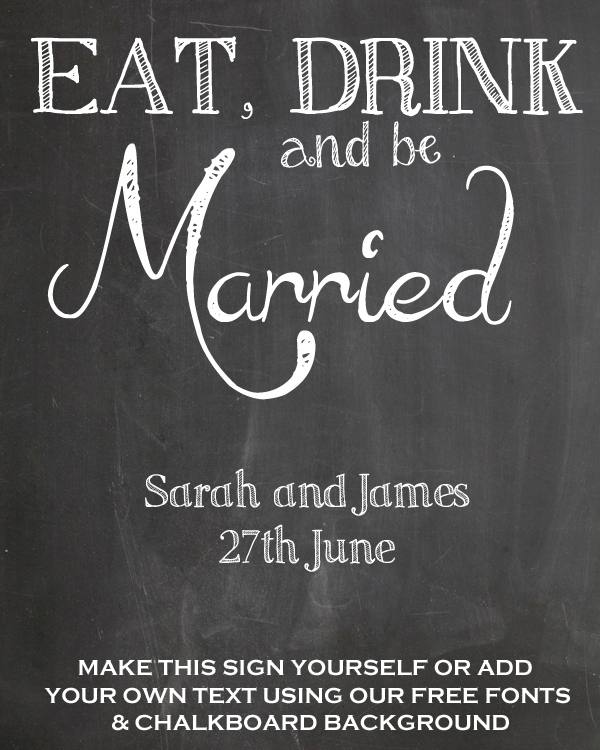 FREE Chalkboard Fonts For Wedding Signs