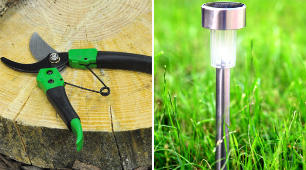 Secateurs & solar lighting